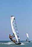 2 windsurfers в действии Стоковое Фото