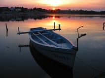 2 wiosłować łodzi Obrazy Royalty Free