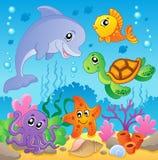 2 wizerunków temat podmorski Zdjęcie Stock