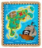 2 wizerunku mapy tematu skarb Fotografia Royalty Free