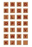 2 wood alfabetblock Arkivfoto