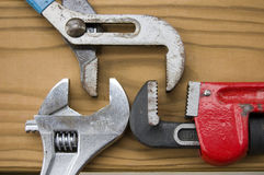 2 Wrenches Against 1 Royalty Free Stock Images