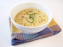 2 wycieku kremowa zupa Obrazy Stock