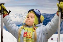 2 wysokogórski narciarstwo Zdjęcia Royalty Free