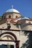 2 wyspy monasteru Samos Stavros timios Obrazy Royalty Free