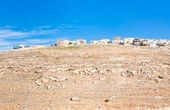 2 wzgórzy Jordan kerak kamienia miasteczko Zdjęcie Stock