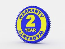 2 year warranty. 3d render of a 2 year warranty Stock Image