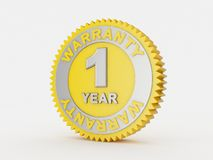 2 year warranty. 3d render of a 1 year warranty Royalty Free Stock Photos