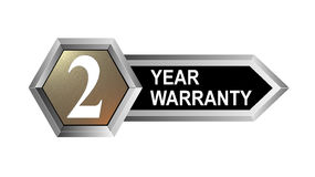 2 year warranty key. Vector art of a 2 year warranty key Royalty Free Stock Photo
