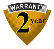 2 year warranty shield. Vector art of a Royalty Free Stock Photos