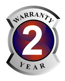 2 year warranty shield. Vector art on business icons Royalty Free Stock Image