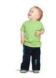 2 years old boy. Isolated full length view of 2 years old boy Stock Photo