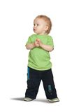 2 years old boy. Isolated full length view of 2 years old boy Royalty Free Stock Image