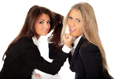2 young beautiful businesswomen Royalty Free Stock Images