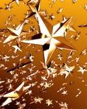 2 złota gwiazda Zdjęcia Royalty Free