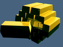 2 złoto Zdjęcie Stock
