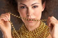 2 złoto kobieta Fotografia Royalty Free