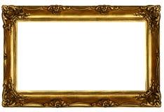 2 złoty ramowego stary sculpted Obraz Royalty Free