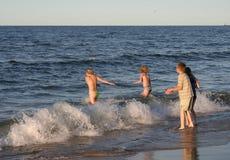 2 zabawa plażowa zdjęcie royalty free
