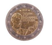 2 zadków menniczy euro francuski dodatek specjalny Zdjęcia Royalty Free