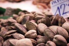 2 zamkniętych jedzenia rynku mussels zamknięty Obraz Stock
