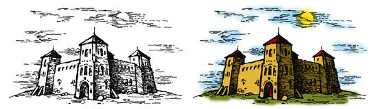2 zamku royalty ilustracja