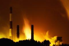 2 zanieczyszczenia powietrza Zdjęcia Stock