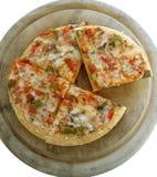2 zawierać 6 ścieżki wegetariańskie pizzy Zdjęcia Royalty Free