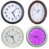 2 zegarów kolekci ściana Zdjęcia Royalty Free
