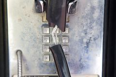 2 zepsuty telefon rekompensaty Zdjęcia Royalty Free