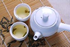 2 zielonej herbaty Fotografia Royalty Free