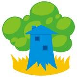 2 zielony dom ilustracji