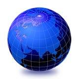 2 ziemskich kul świat ilustracja wektor