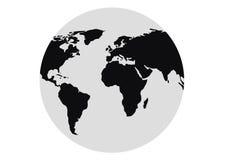 2 ziemskich kul świat ilustracji
