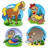 2 zwierzęcia uprawiają ziemię różnorodnego royalty ilustracja