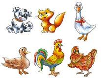 2 zwierząt gospodarstwo rolne Ilustracji
