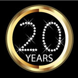20ème anniversaire d'ans Images stock