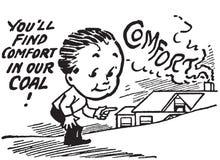 20世纪20年代采煤热化广告 库存图片
