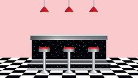 20世纪50年代吃饭的客人减速火箭的样&#2433 库存图片
