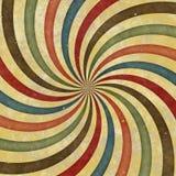 20世纪60年代20世纪70年代减速火箭的漩涡质朴的通配螺旋光芒 库存图片
