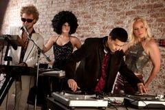 20世纪70年代迪斯科音乐当事人 免版税库存照片