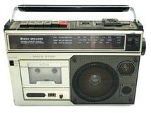 20世纪80年代卡式磁带坏的老球员样式 免版税库存照片