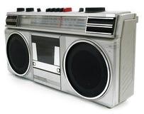 20世纪80年代卡式磁带播放机便携式样式 免版税库存图片