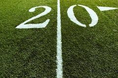 20个域橄榄球线路围场 库存照片