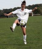 20个活动足球青少年的青年时期 免版税库存照片