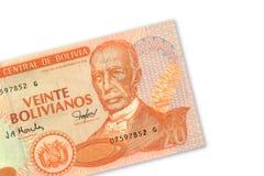 20个玻利维亚旧货币单位比索 库存照片