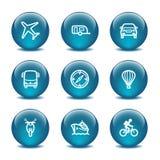 20个球玻璃图标设置了万维网 库存图片