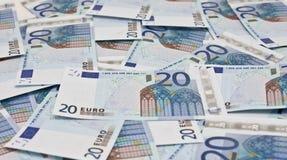20个票据欧元 库存图片