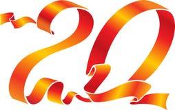 20个红色丝带 免版税库存照片