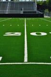 20个美国人域橄榄球线路围场 库存照片